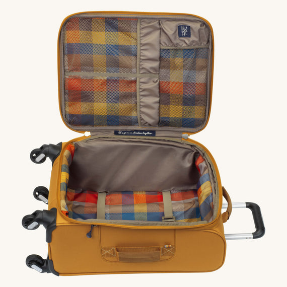 Carry-On Whidbey 20-inch Carry On in Honey Open View in  in Color:Honey in  in Description:Opened