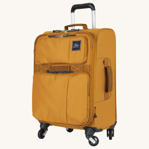 Carry-On Whidbey 20-inch Carry On in Honey Quarter Front View in  in Color:Honey in  in Description:Angled View