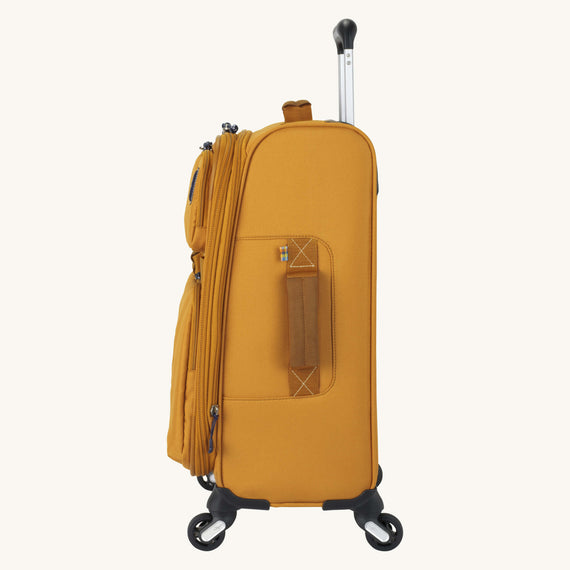 Carry-On Whidbey 20-inch Carry On in Honey Side View in  in Color:Honey in  in Description:Side