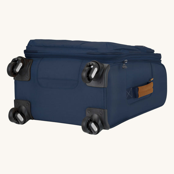 Carry-On Whidbey 20-inch Carry On in Midnight Blue Bottom View in  in Color:Midnight Blue in  in Description:Bottom