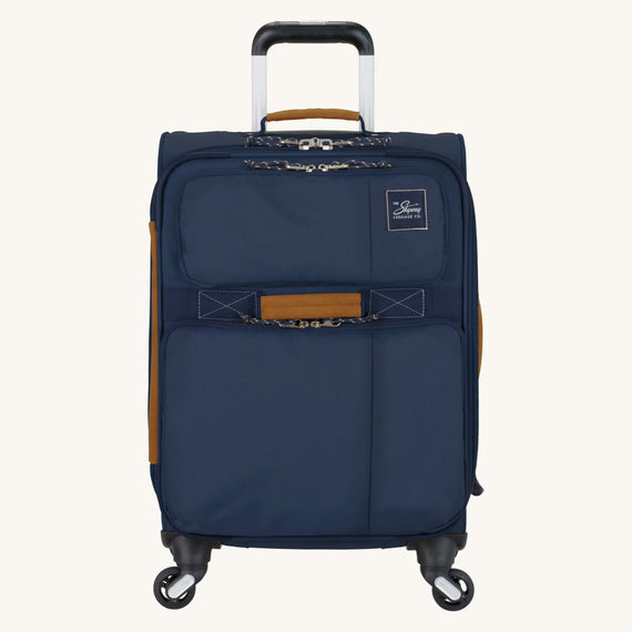 Carry-On Whidbey 20-inch Carry On in Midnight Blue Front View in  in Color:Midnight Blue in  in Description:Front