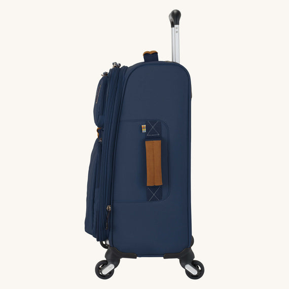 Carry-On Whidbey 20-inch Carry On in Midnight Blue Side View in  in Color:Midnight Blue in  in Description:Side
