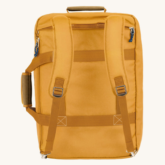 Convertible Four-Way Carry-On Whidbey 21-inch Backpack in Honey Back View Back View in  in Color:Honey in  in Description:Back