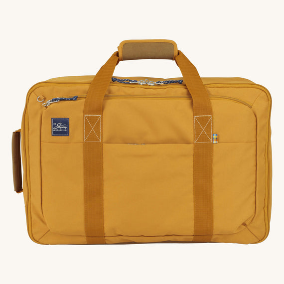 Convertible Four-Way Carry-On Whidbey 21-inch Backpack in Honey Front View in  in Color:Honey in  in Description:Front