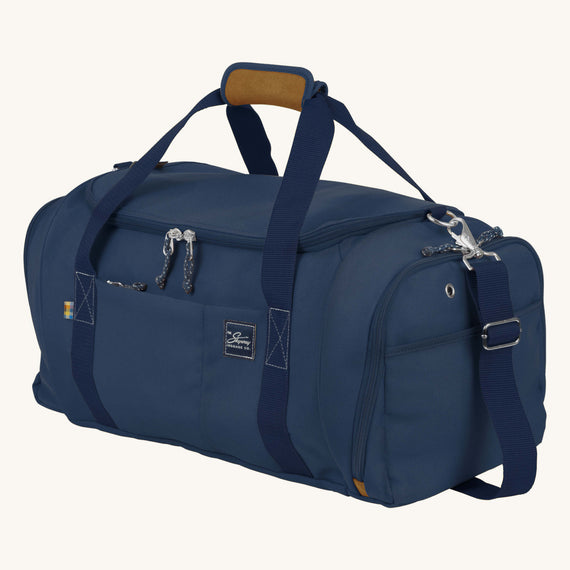 Duffel Whidbey 22-inch Duffel in Midnight Blue Quarter Front View in  in Color:Midnight Blue in  in Description:Angled View