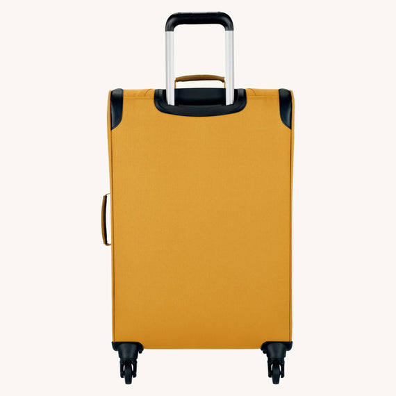 Medium Check-In Whidbey 24-inch Spinner Suitcase in Honey Back View in  in Color:Honey in  in Description:Back