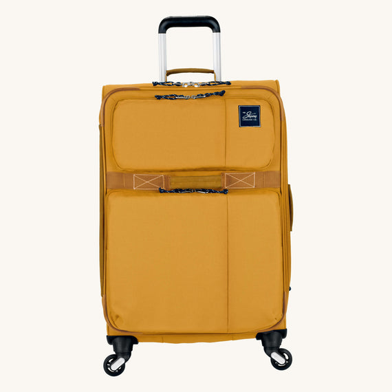 Medium Check-In Whidbey 24-inch Spinner Suitcase in Honey Front View in  in Color:Honey in  in Description:Front
