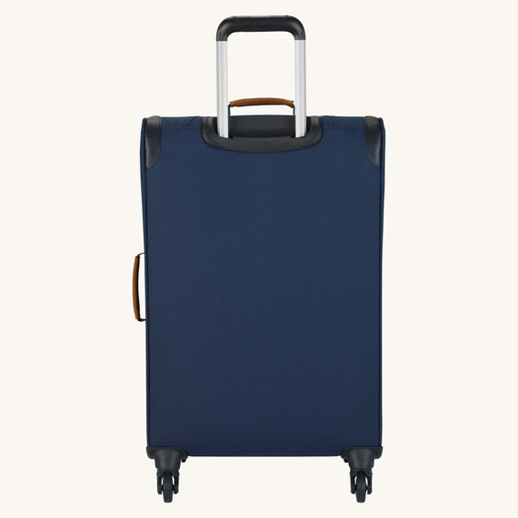 Medium Check-In Whidbey 24-inch Spinner Suitcase in Midnight Blue Back View in  in Color:Midnight Blue in  in Description:Back