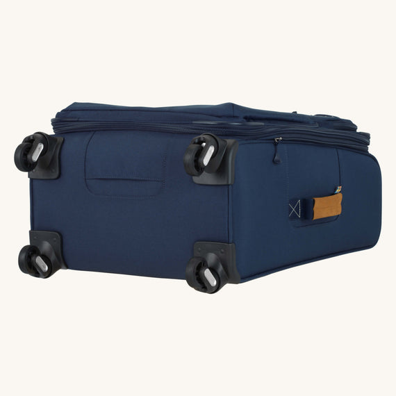 Medium Check-In Whidbey 24-inch Spinner Suitcase in Midnight Blue Bottom View in  in Color:Midnight Blue in  in Description:Bottom