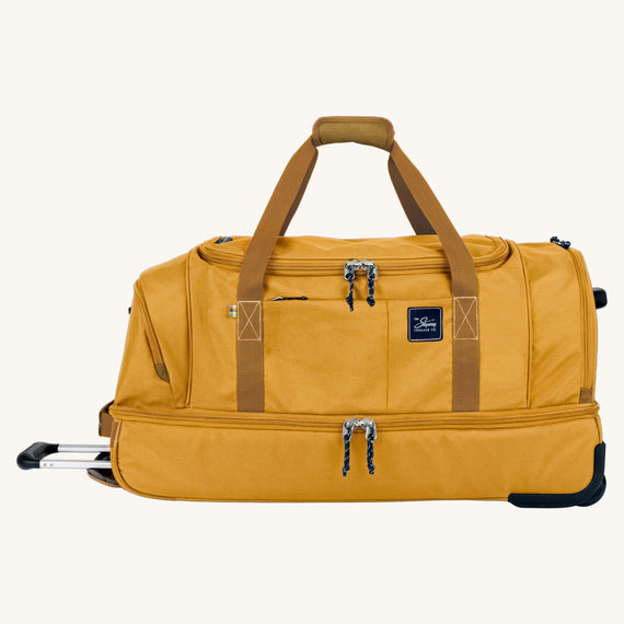 Large Rolling Duffel Whidbey 28-inch Rolling Duffel in Honey Front View in  in Color:Honey in  in Description:Front