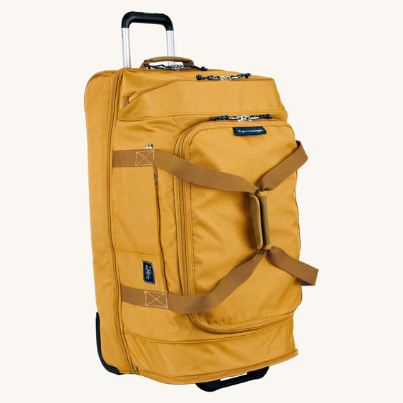 Large Rolling Duffel Whidbey 28-inch Rolling Duffel in Honey in  in Color:Honey in  in Description:Angled View