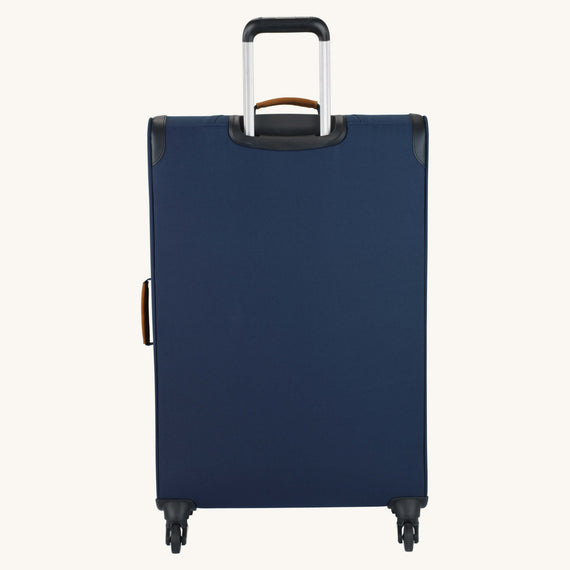 Large Check-In Whidbey 28-inch Spinner Suitcase in Midnight Blue Back View in  in Color:Midnight Blue in  in Description:Back