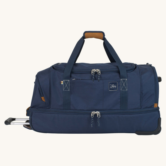 Large Rolling Duffel Whidbey 28-inch Rolling Duffel in Midnight Blue Front View in  in Color:Midnight Blue in  in Description:Front