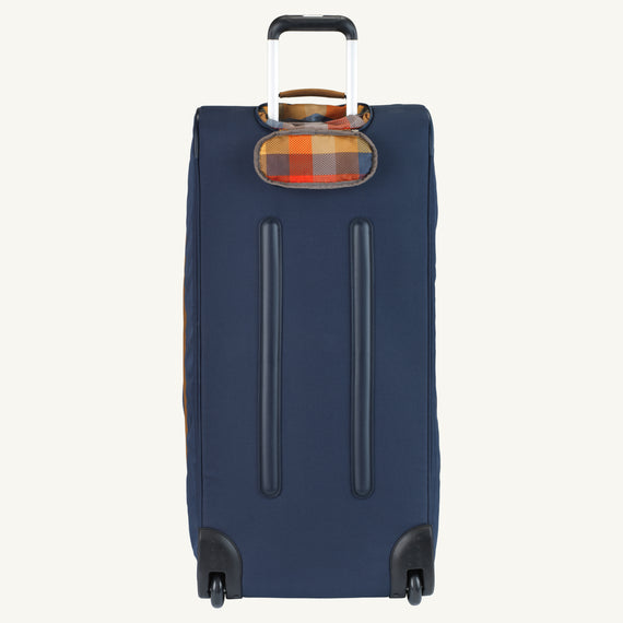 Extra Large Rolling Duffel Skyway Luggage 34-inch Rolling Duffel in Midnight Blue in  in Color:Midnight Blue in  in Description:Bottom Angle