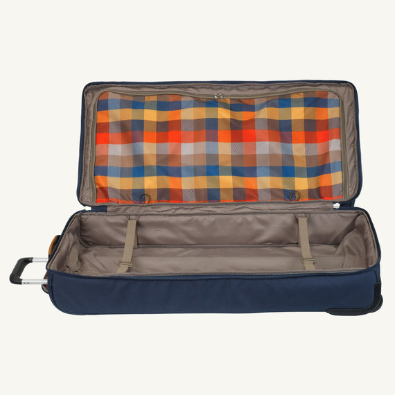 Extra Large Rolling Duffel Skyway Luggage 34-inch Rolling Duffel in Midnight Blue in  in Color:Midnight Blue in  in Description:Bottom Compartment