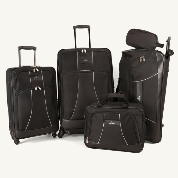 5-Piece Luggage Set Skyway Luggage Seville 5-Piece Luggage Set in Black in  in Color:Black in  in Description:Front