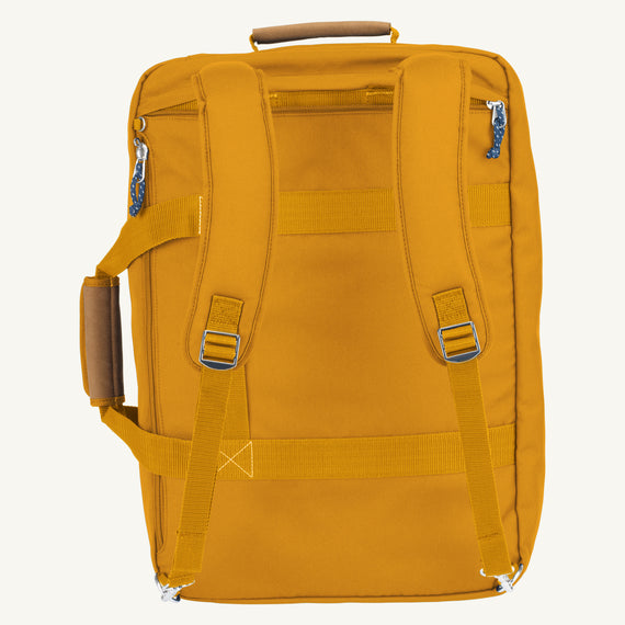 Convertible Four-Way Carry-On Coupeville 21-inch Backpack in Honey Back View Back View in  in Color:Honey in  in Description:Back