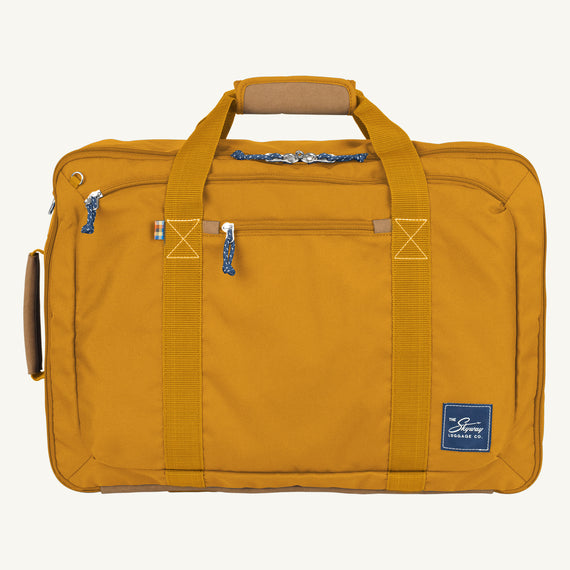 Convertible Four-Way Carry-On Coupeville 21-inch Backpack in Honey Front View in  in Color:Honey in  in Description:Front