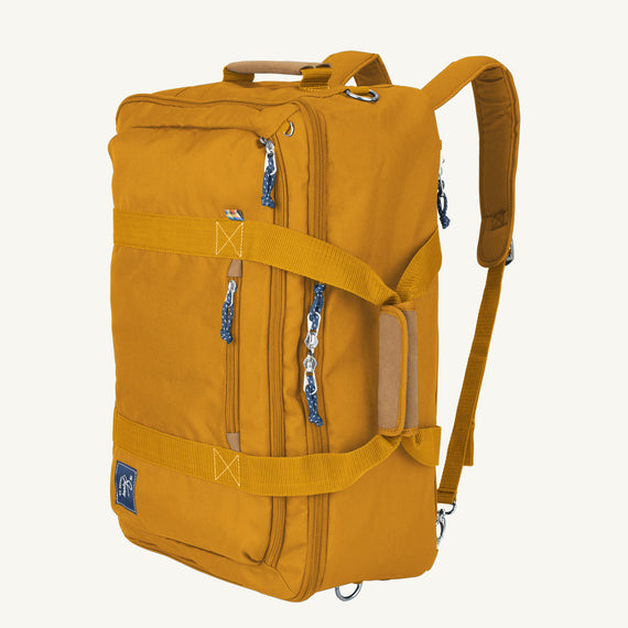 Convertible Four-Way Carry-On Coupeville 21-inch Backpack in Honey Secondary Quarter Front View in  in Color:Honey in  in Description:Angled View