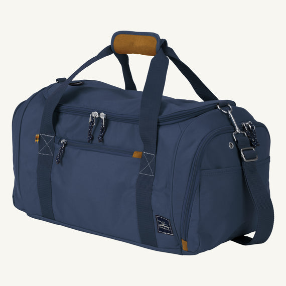 Weekender Duffel Coupeville 22-inch Duffel in Midnight Blue Quarter Front View in  in Color:Midnight Blue in  in Description:Angled View