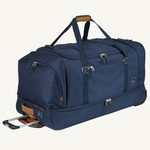 Extra Large Rolling Duffel Coupeville 34-inch Rolling Duffel in Midnight Blue in  in Color:Midnight Blue in  in Description:Angled View