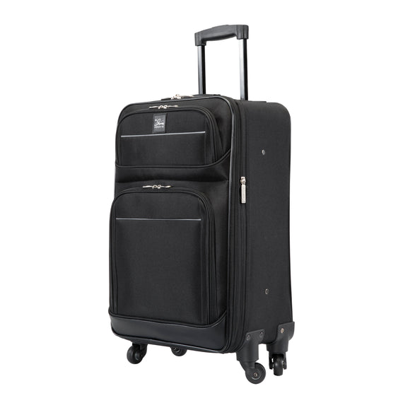5-Piece Travel Set Skyway Luggage Seville 2.0  5-Piece Luggage Set Carry-On in Black in  in Color:Black in  in Description:Carry-On