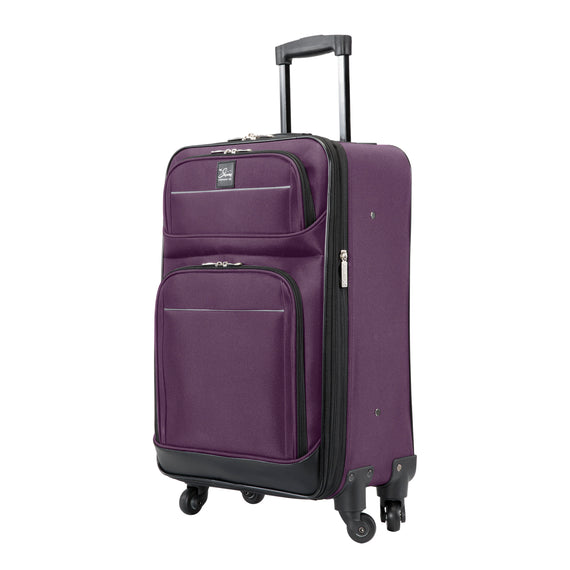 5-Piece Travel Set Skyway Luggage Seville 2.0  5-Piece Luggage Set Carry-On in Purple in  in Color:Purple in  in Description:Carry-On