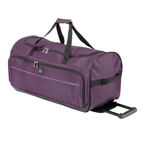 5-Piece Travel Set Skyway Luggage Seville 2.0  5-Piece Luggage Set Medium Rolling Duffel in Purple in  in Color:Purple in  in Description:Medium Rolling Duffel
