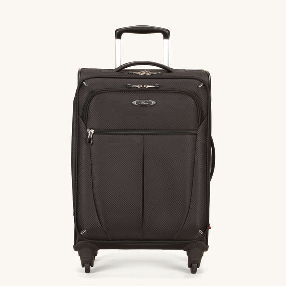 Carry-On Skyway Luggage 20-inch Carry-On Spinner Luggage in Black in  in Color:Black in  in Description:Front