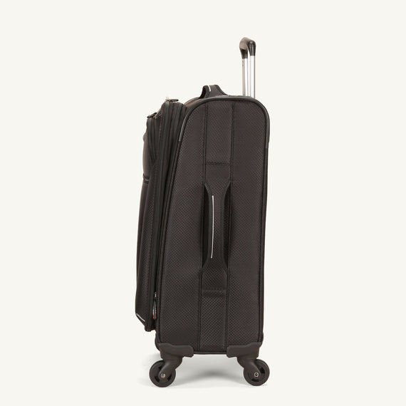 Carry-On Skyway Luggage 20-inch Carry-On Spinner Luggage in Black in  in Color:Black in  in Description:Side