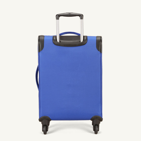 Carry-On Skyway Luggage 20-inch Carry-On Spinner Luggage in Maritime Blue in  in Color:Maritime Blue in  in Description:Back