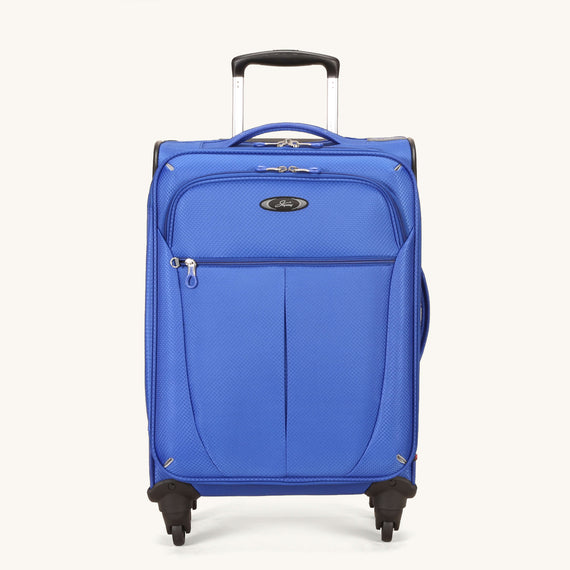 Carry-On Skyway Luggage 20-inch Carry-On Spinner Luggage in Maritime Blue in  in Color:Maritime Blue in  in Description:Front