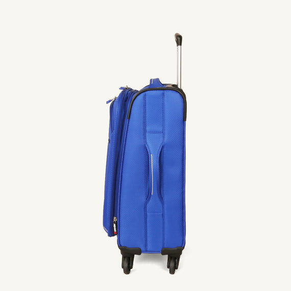 Carry-On Skyway Luggage 20-inch Carry-On Spinner Luggage in Maritime Blue in  in Color:Maritime Blue in  in Description:Side