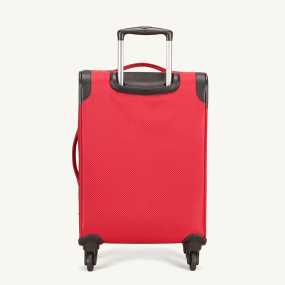 Carry-On Skyway Luggage 20-inch Carry-On Spinner Luggage in Formula One Red in  in Color:Formula One Red in  in Description:Back