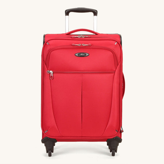 Carry-On Skyway Luggage 20-inch Carry-On Spinner Luggage in Formula One Red in  in Color:Formula One Red in  in Description:Front
