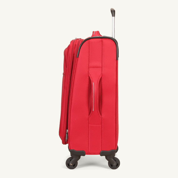 Carry-On Skyway Luggage 20-inch Carry-On Spinner Luggage in Formula One Red in  in Color:Formula One Red in  in Description:Side