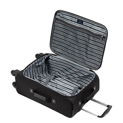 Carry-On Epic 20-inch Carry-On Suitcase in Black Open View in  in Color:Black in  in Description:Opened