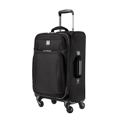 Carry-On Epic 20-inch Carry-On Suitcase in Black Angled View in  in Color:Black in  in Description:Angled View