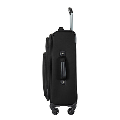 Carry-On Epic 20-inch Carry-On Suitcase in Black Side View in  in Color:Black in  in Description:Side
