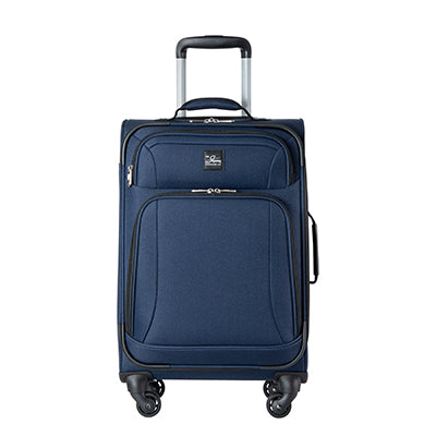 Carry-On Epic 20-inch Carry-On Suitcase in Blue Front View in  in Color:Surf Blue in  in Description:Front