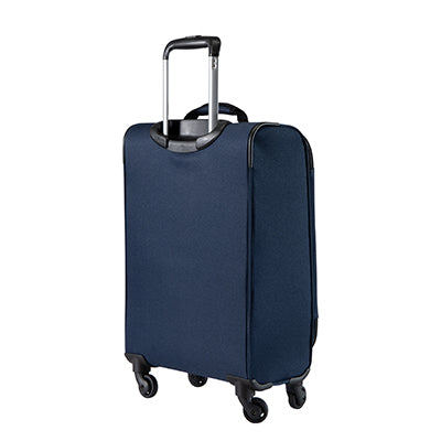 Carry-On Epic 20-inch Carry-On Suitcase in Blue Back Angle View in  in Color:Surf Blue in  in Description:Back Angle