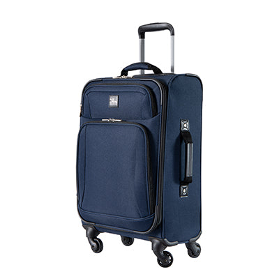 Carry-On Epic 20-inch Carry-On Suitcase in Blue Angled View in  in Color:Surf Blue in  in Description:Angled View