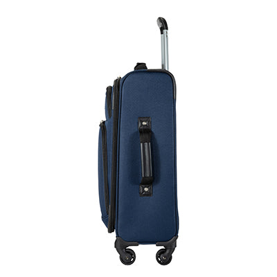 Carry-On Epic 20-inch Carry-On Suitcase in Blue Side View in  in Color:Surf Blue in  in Description:Side