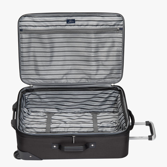 2-Wheel Medium Check-In Epic 2-wheel 25-inch Check-in Suitcase in Black Open View in  in Color:Black in  in Description:Opened