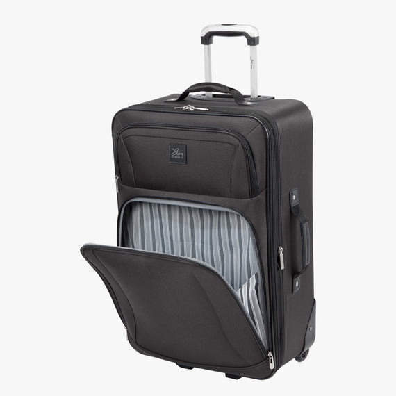 2-Wheel Medium Check-In Epic 2-wheel 25-inch Check-in Suitcase in Black Open Detail View in  in Color:Black in  in Description:Open Detail