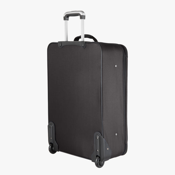 2-Wheel Medium Check-In Epic 2-wheel 25-inch Check-in Suitcase in Black Back Angle View in  in Color:Black in  in Description:Back Angle