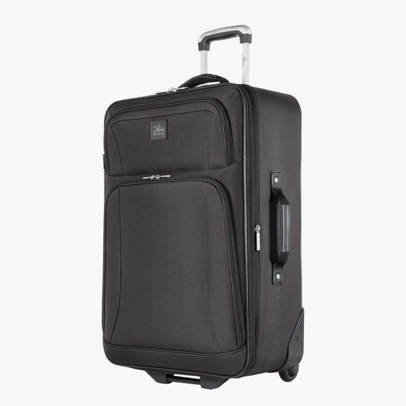 2-Wheel Medium Check-In Epic 2-wheel 25-inch Check-in Suitcase in Black Angled View in  in Color:Black in  in Description:Angled