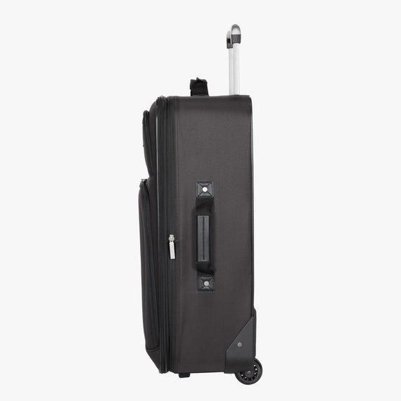 2-Wheel Medium Check-In Epic 2-wheel 25-inch Check-in Suitcase in Black Side View in  in Color:Black in  in Description:Side