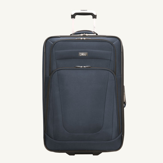 2-Wheel Medium Check-In Epic 2-wheel 25-inch Check-in Suitcase in Blue Front View in  in Color:Surf Blue in  in Description:Front