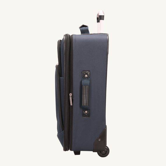 2-Wheel Medium Check-In Epic 2-wheel 25-inch Check-in Suitcase in Blue Side View in  in Color:Surf Blue in  in Description:Side